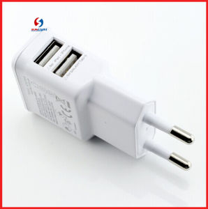 EU 2A Mobile Dual USB Charger for Samsung S6 pictures & photos