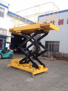 Aerial Work Platform Mobile Scissor Lift Max Height 9m) pictures & photos