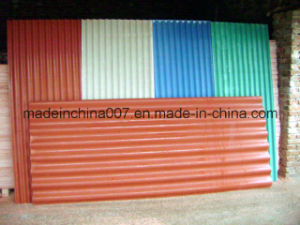 Fireproof MGO Corrugated Roof Tile pictures & photos