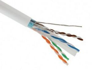 FTP Cable CAT6 LAN Cable with Messenger Shielded Line with Ripcord 0.58mm pictures & photos