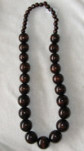 Wooden Rosary Necklace (B1383)