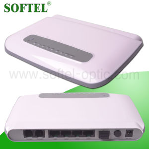 1gbps Uplink Pon, 4*10/100m Base-T Downlink Pon Ports VoIP Gepon ONU, FTTH 4 RJ45 Interfaces Epon ONU with RF Ports pictures & photos