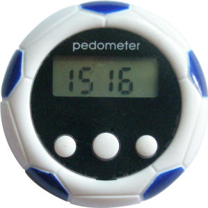 Football Shape Cute Digital Pedometer with Time Function pictures & photos