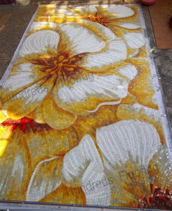 Mural Flower Glass Mosaic Pattern Art Mosaic Tile (HMP774) pictures & photos