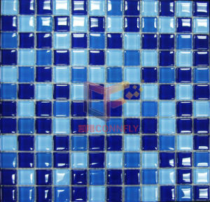 Swimming Pool Crystal Glass Mosaic Tile (CFC102) pictures & photos