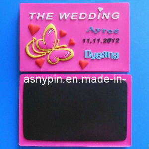 Customized Plastic Soft PVC Fridge Magnet for Wedding Gift pictures & photos