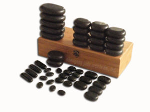 Hot Basalt Stone Set for Massage Therapy (SPA-BA06)