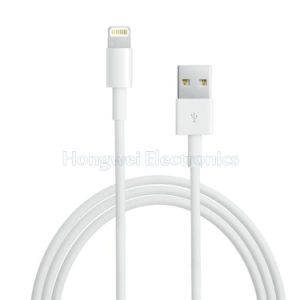 Genuine Looks White TPE Lightning USB Cable Comes with Retail Box pictures & photos