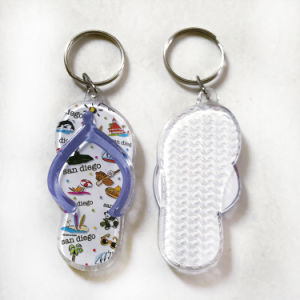 Professional Slippers Shape Acrylic Keychain pictures & photos