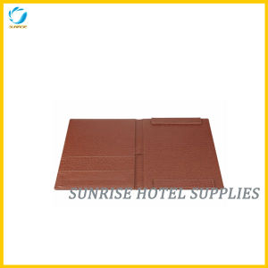 Hotel Brown Leather Guestroom Directory Leather Folder pictures & photos