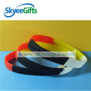 Promotional Sgement Silicone Wristbands pictures & photos