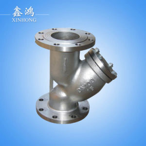 304 Stainless Steel Flanged Strainer Valve Dn80 Made in China pictures & photos