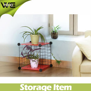 Grid Steel Wire Modular Shelving Storage Metal Rack pictures & photos