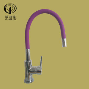 Brass Body Zinc Handle with Universal Pipe Kitchen Faucet Op35-Purple pictures & photos