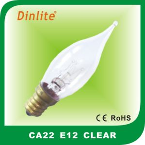Candle shape CA22 Flame incandescent bulb pictures & photos