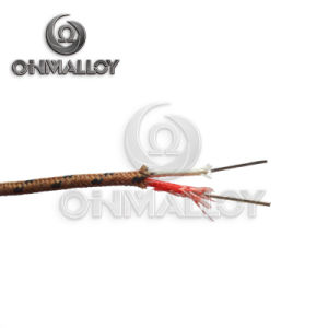 2X0.3mm Type K Thermocouple Cable Fiberglass Insulation pictures & photos