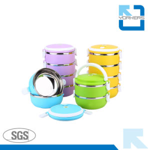 Stainless Steel Round Shape Bento Lunch Box pictures & photos