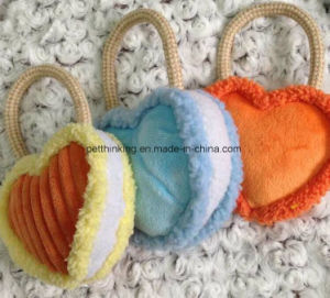 Three Colors of Heart Design Soundin Pet Toy pictures & photos