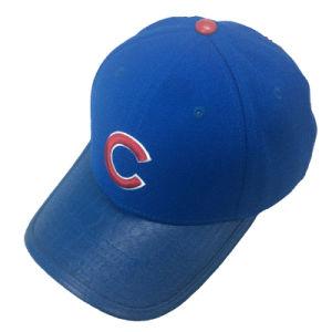 Custom Blue Cotton Embroidery Baseball Cap pictures & photos