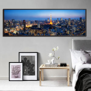 Large Size City Downtown Canvas Print Painting pictures & photos