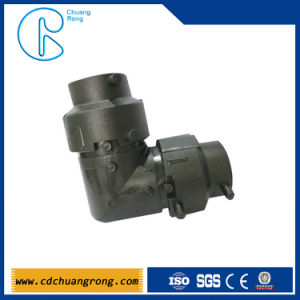 HDPE Eletrofusion Oil Pipe Fittings 90 Degree Elbow pictures & photos
