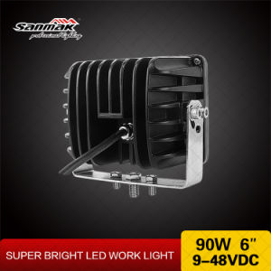 6′′ 90W Super Bright CREE Heavy Duty LED Work Light pictures & photos
