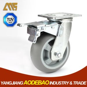 Heavy Duty Double Brake TPR Caster Wheels pictures & photos