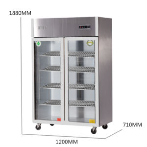 New Type Double Doors Stainless Steel Large Volume Kitchen Refrigerator pictures & photos