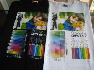 Digital Inkjet T Shirt Printer with Colorful Design pictures & photos
