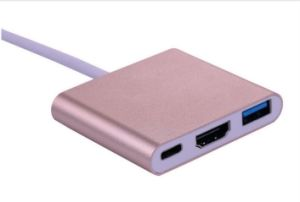 USB 3.1 USB C USB Type C to HDMI+ USB3.0+ USB-C Charge Converter pictures & photos
