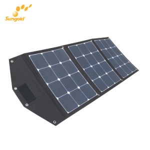 Sunpower Portable 3*35W Flexible Solar Panel Charger with Bracket pictures & photos