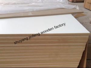 ISO9001: 2008 Warm White 1220*2440mm Melamine MDF pictures & photos