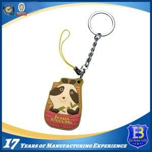 Rubber Keychain for Healthy Lifestyle Promotion pictures & photos