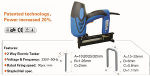 2 in 1 Electric Stapler/Nailer Staples 25mm Nails 32mm pictures & photos