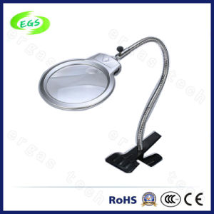 High Quality 2.5-5X Foldable Metal Hose LED Desktop Magnifiers pictures & photos
