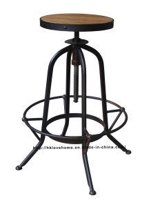 Industrial Metal Furniture Restaurant Vintage Black Bar Stools pictures & photos