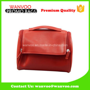 China Suppiler Lady Stylish Handbag PU Leather Cosmetic Bag pictures & photos