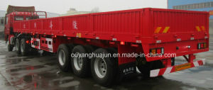 13 Meters 7500kg Flatbed Semitrailer with Side Wall pictures & photos