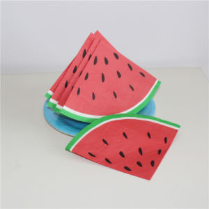 Watermelon Type Paper Napkin 33*33/3ply for Party pictures & photos