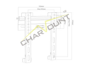 Economical Fixed TV Wall Mount for 17-42 Inch TV (CT-PLB-1031) pictures & photos