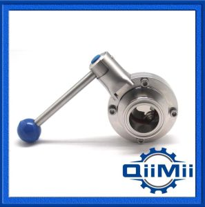 Sanitary Stainless Steel 3A Butterfly Valve Clamp/ Welded/ Thread pictures & photos