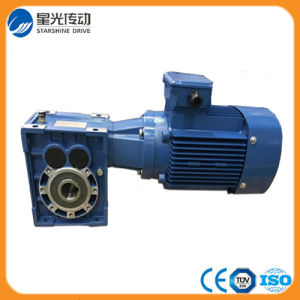 Helical Hypoid Spiral Bevel Gearbox with 0.75kw Motor pictures & photos
