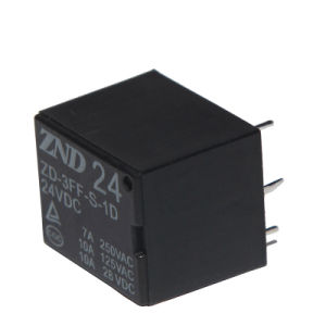 3FF (T73) 7A 24V 4pins Miniature Power Relay Electromagnetic Relay pictures & photos