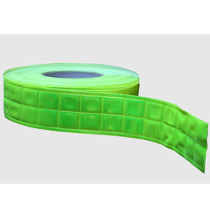 Green PVC Reflective Tape, 200-300CPL Reflective Coefficient/for High Visibility Safety Garments pictures & photos