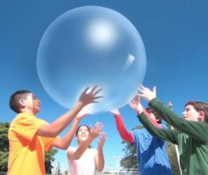 The Amazing Wubble Bubble Ball - Looks Like a Bubble, Plays Like a Ball! Blue pictures & photos