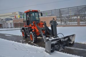 Wheel Loader Zl16 with Snow Plough pictures & photos