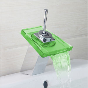 Deck Mount Waterfal LED Basin Sink Tap pictures & photos
