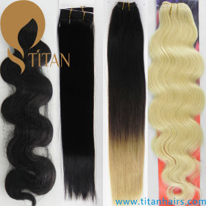 1b# Brazilian Remy Human Hairpiece Kinky Curly Hair Weave pictures & photos