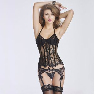 Women′s Sexy Waist Cincher Corset Lingerie with Garter Belt pictures & photos