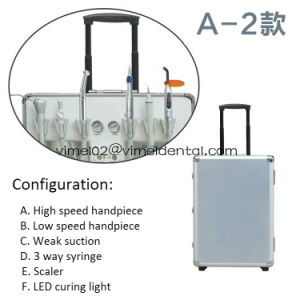 High Volume Portable Dental Unit with Curing Light and Scaler pictures & photos